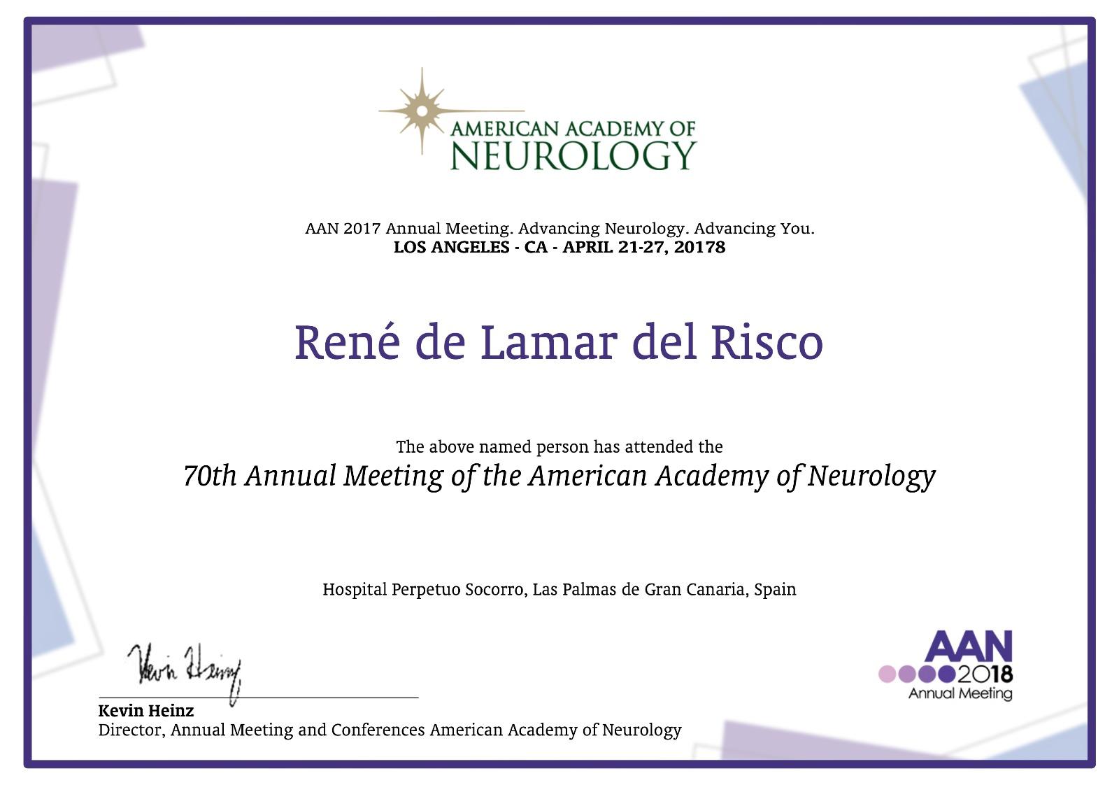 American Academy Neurology – Lamar Salud